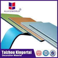 Alucoworld PVDF outdoor use wall cladding, marble finish white plastic wall panels