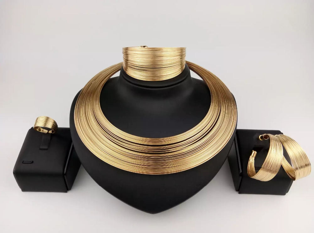 fashion wholesale dubai gold jewelry sets custom african gold plated jewelry set TDJ004