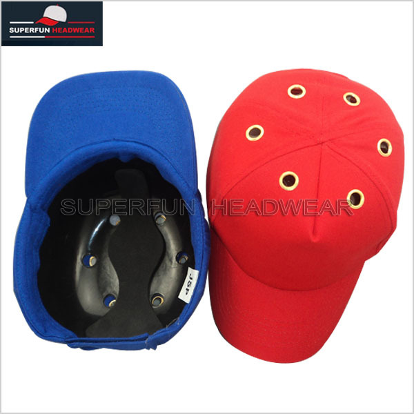Breathable fabric safety bump cap baseball helmet