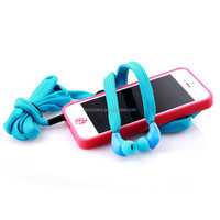 buy from china online plastic in ear shoelace earphone for MP3