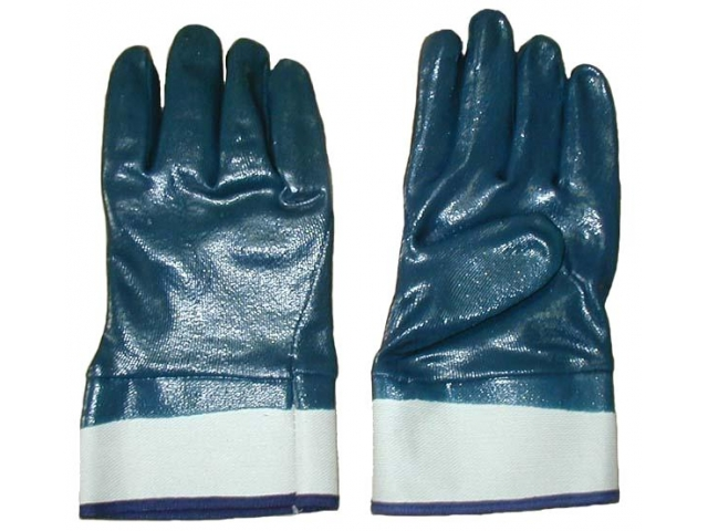 Brand MHR 13G nylon liner black nitrile gloves for glass and metal working safety