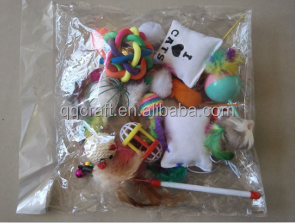 Aimigou 20pcs cat toy bag variety pack for kitty