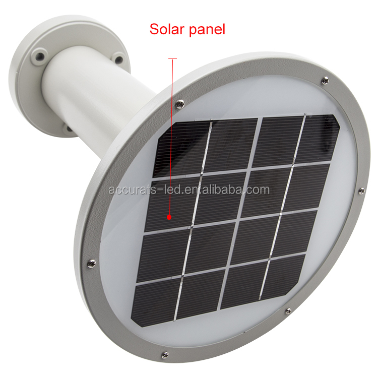 photocell sensor solar garden led panel light pathway road lighting
