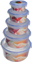 Food plastic airtight storage round dried fruit container with lids