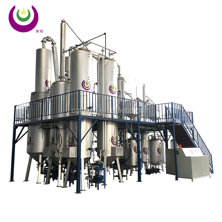 Large treatment capacity and bad color clean waste oil refinery equipment