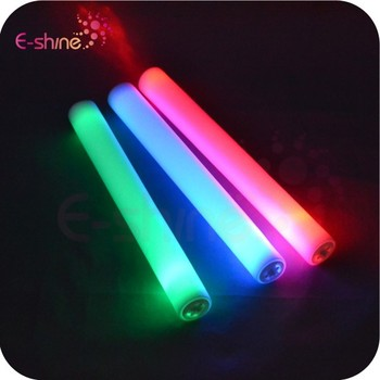 2015 New Concert Customize Led Foam Glow Stick 3 Modes