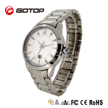 Chinese Wholesale Couple Swiss Japan Movt Quartz Watch Stainless Steel Back