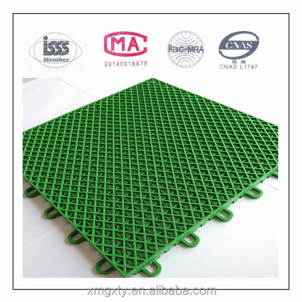 Plastic Suspension Outdoor Basketball Court Floor Covering