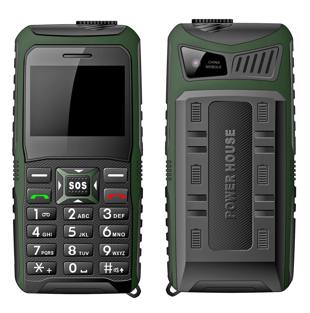 2015 Supreme 2.4 inch big battery phone loud speaker phone water proof phone