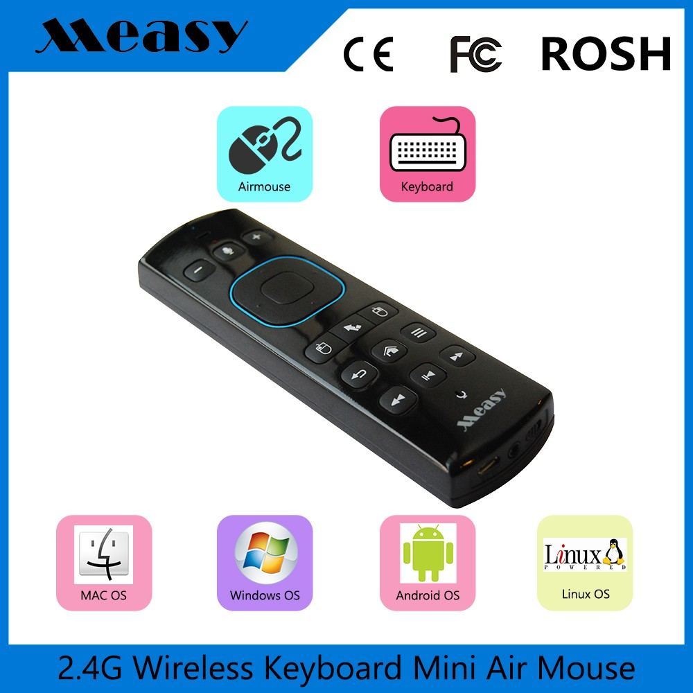 2.4G Mini Wireless Keyboard Remote Control GP830 air mouse keyboard for samrt tv box with headphone