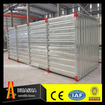 The flat pack steel structure galvanized storage