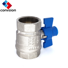 china manufacture 1/2 3/4 1 inch female male NPT thread steel handle brass body copper ball new brass ball valve