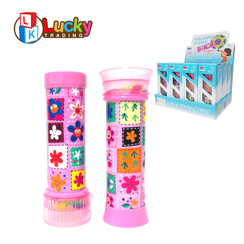 hot selling mini revolving kaleidoscope plastic edu fun toys for kids
