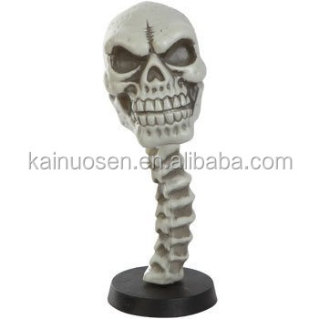 Personalized Handmade Color Painted Resin Halloween Skull Bobble Head