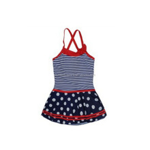 Cherry Stripes Print Baby Girl Diaper Swimwear