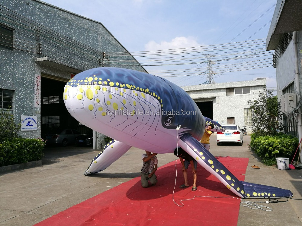 Hot sale giant inflatable whale,inflatable helium balloon whale animal