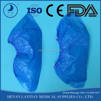 disposable plastic PE and non woven shoe cover overshoes