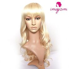 Factory main products! natural wig of human hair long curly cosplay wig for women