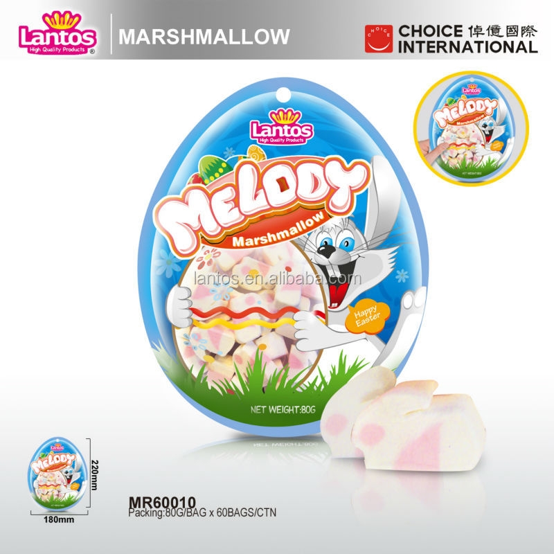 white rabbit candy of marshmallow
