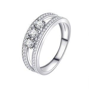 Wholesale Wedding Engagement Ring ,925 Sterling Silver Jewelry Rings With Zircon