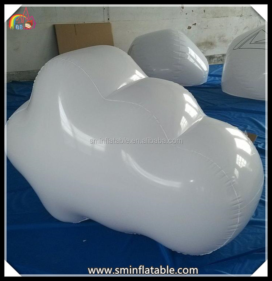 Customized inflatable model,inflatable white cloud balloon, pvc cloud shape for advertising