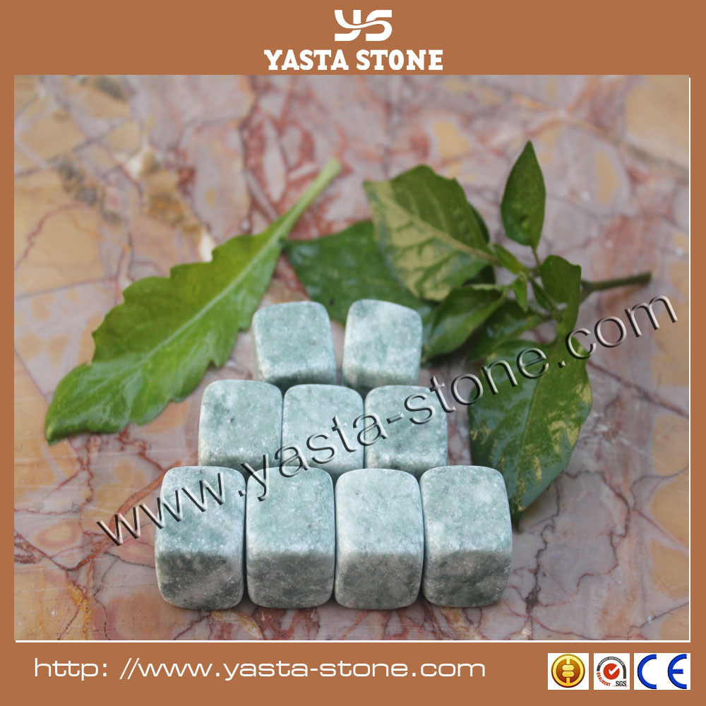 Natural dice ice cube whisky stone with marble & granite