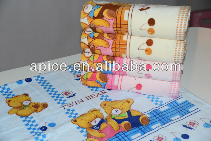 Manufacturer direct marking 100%Cotton and high absorbent custom print hand towel