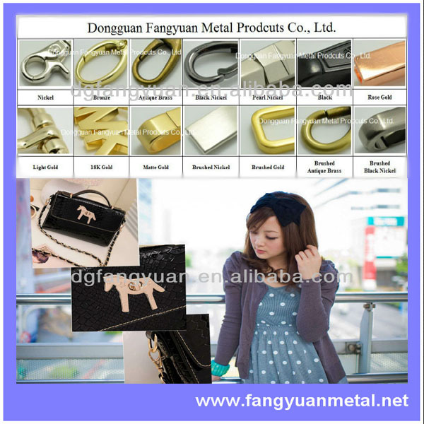 Die cast arch bridge for leather bag