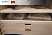 German Pool Custom Design tough Moisture-proof lacquer with drawer wood color wardrobe Furniture Cabinets for shirts