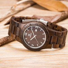 OEM Fashion Watch Casual Watch and Unique Watch with 100% Natural Luxury Zebra/Violet/Sandal Wood