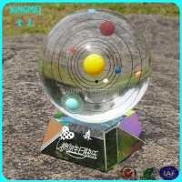 Decoration crystal ball Solar System Crystal Ball For Birthday Gift