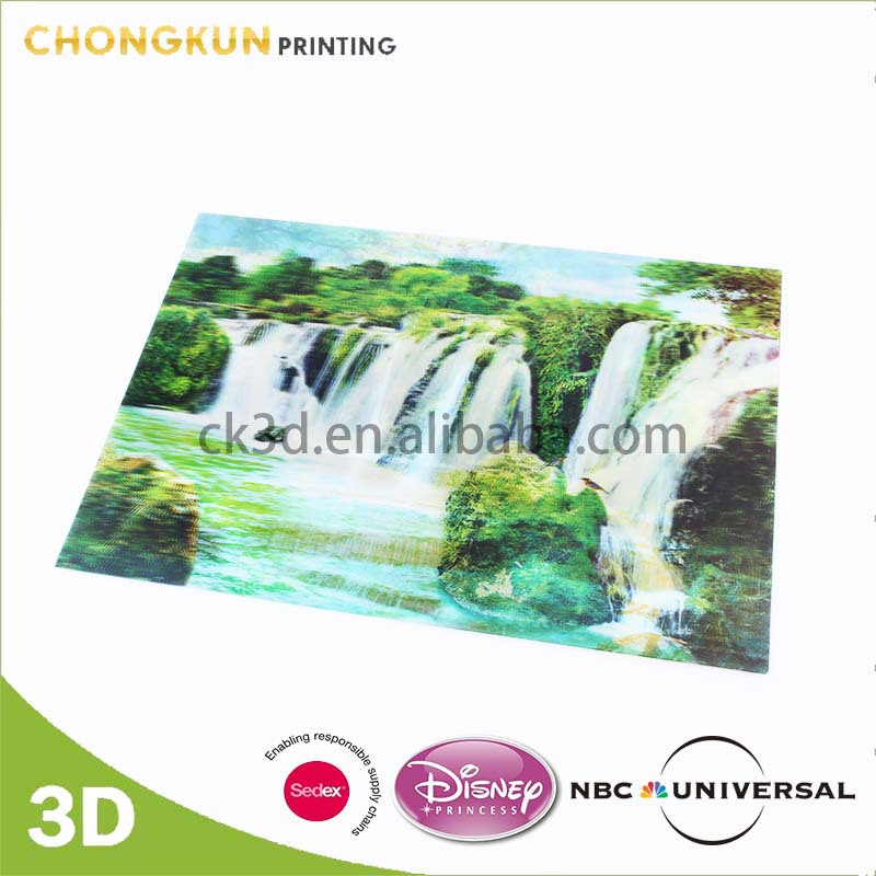Wholesales 3D Waterfall Picture Of Natural Scenery