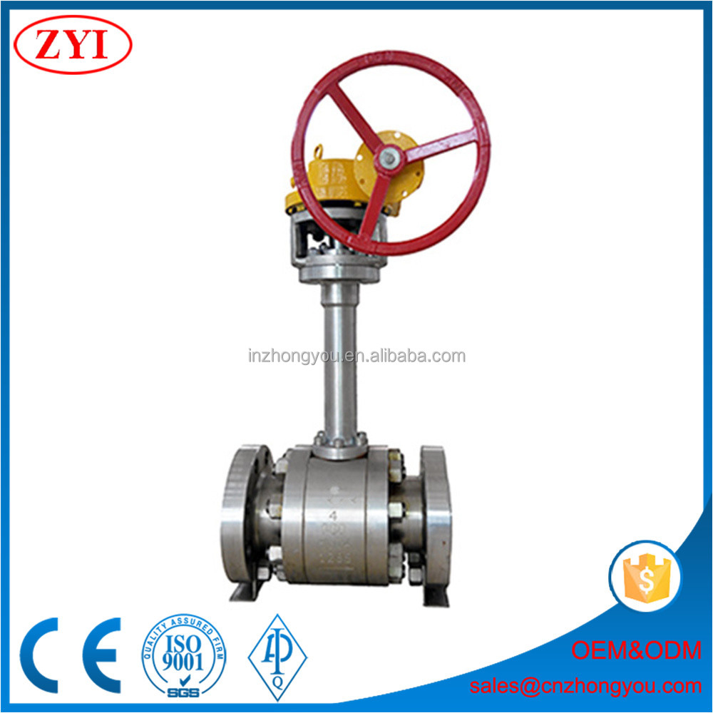 Low temperature material LCC LCB extended stem ball valve