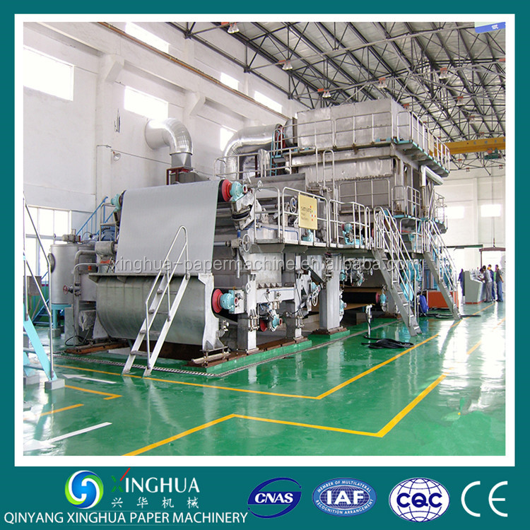 Europe market sell a4 jumbo roll size printing paper making machine line