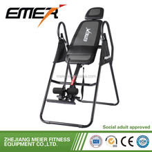 body building inversion therapy table with lumbar pad