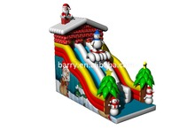 Popular Commercial Inflatable Slide Christmas theme inflatable slide