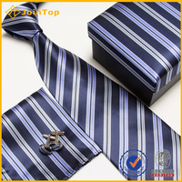 Popular Hot Sale silk tie and pocket square and cufflinks gift set