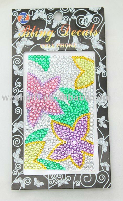 mobile phone jewelry stickers for iphone skin