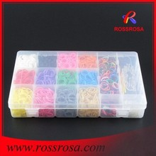 Hot Christmas Gifts 3000PCS Rubber Loom Bands Storage Box Package Crazy Loom Bands Wholesale RLPS0200