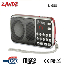 Portable mini Digital FM radio speaker with 3.5cm jack support TF Card,USD Flash driver