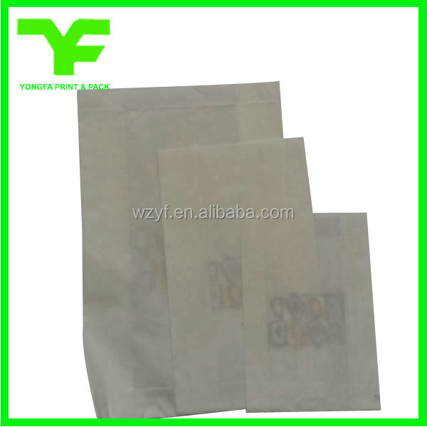 Food grade customized logo printing kraft paper bag for food