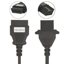 OBD2 8 Pin Diagnostic Truck Cable For Volvo