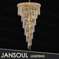 chinese style vintage architectural design bronze acrylic bead crystal garland chandelier ceiling lights droplets