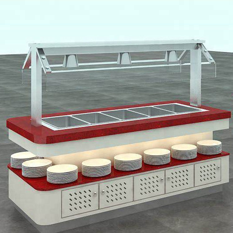 Commercial stainless steel Hot And Cold Buffet Table for restaurant
