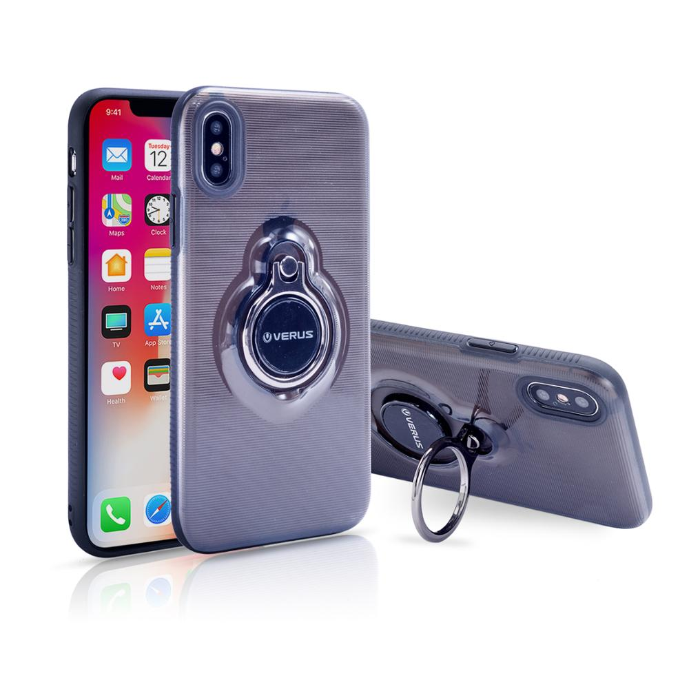 Rugged Luxury TPU PC case phone cover for iPhone X case with finger ring phone stand holder 360 degree rotation