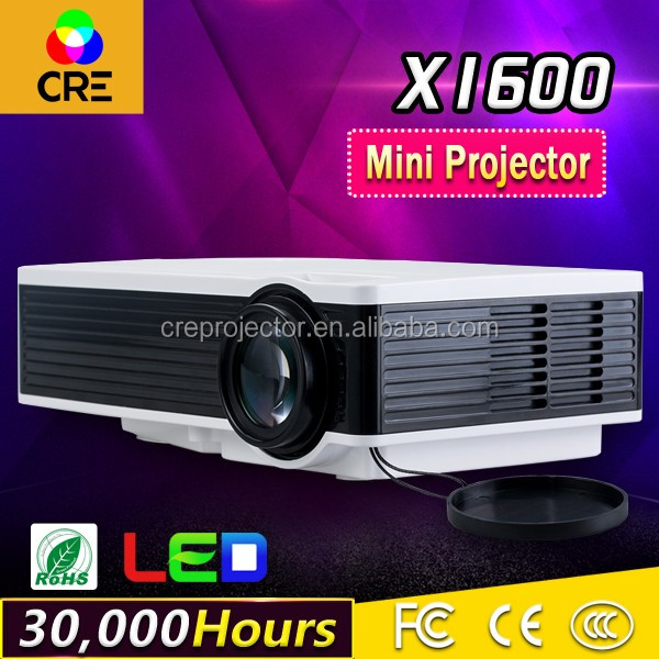 Updated laptop mini home film TV projector with 1000lumen projection 200 inch LED projector and overhead beamer