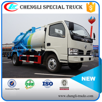 CLW DONGFENG 4*2 6000L 125hp Sewage Vacuum Suction Truck Septic Tank Pumping Trucks