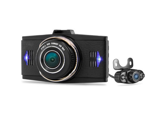 New Dual lens car DVR License plate recognition car video recorder 2CH Dashcam