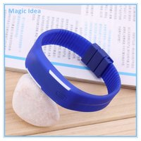 Colorful Silicone Rubber LED Bracelet Digital Wrist Watch
