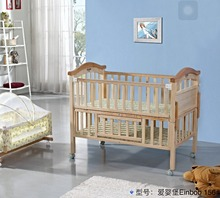 2017 high quality multifunction baby crib baby bed cot cradle bed infant bed pine wood & beech wood safty new born baby crib156